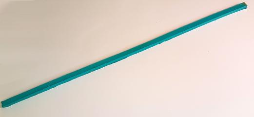 Line I_017, acrylic paint, 2 x 3 x 100 cm