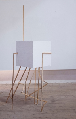 Objekt_A015_I, wood, cement, polystyrene, varnish, 175 x 115 x 120 cm