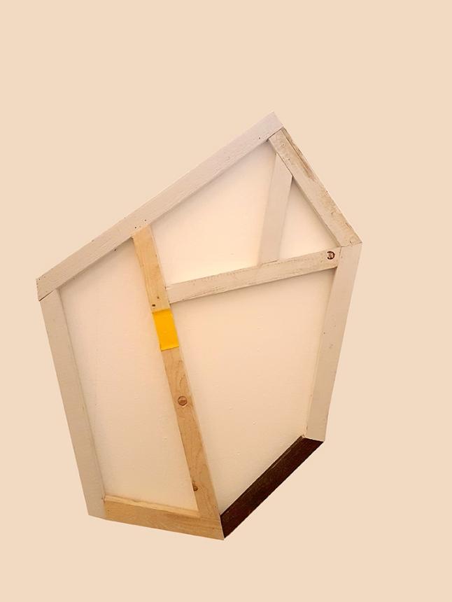 Objekt III_017, wood, acrylic paint, 120 x 115 cm
