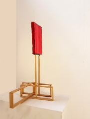Objekt V_017, wood, acrylic paint, 62 x 73 x 43 cm