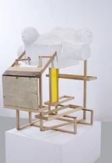 Objekt II, wood, cement, paint, 115 x 87 x 36 cm